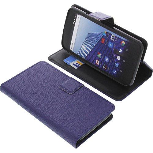 foto-kontor Tasche für Archos Access 50 4G Book Style blau Schutz Hülle Buch