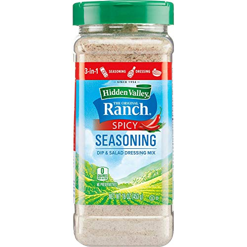 Hidden Valley Ranch Spicy Seasoning Spice Blend Dip And Salad Dressing Mix 16 oz