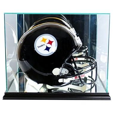 NFL Rectangle Football Helmet Glass Display Case, Black