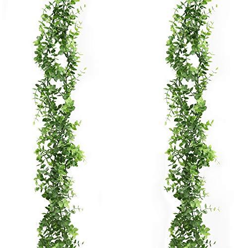 Derbway Eucalipto Artificial Guirnalda, 2 Piezas Seda de Gui