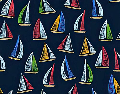 Y·JIANG Pintura de colores por números, barcos de vela náutica, pintura acrílica al óleo por números para adultos y niños, decoración de pared, 40,6 x 40,6 cm