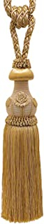 DÉCOPRO Decorative Gold Curtain & Drapery Tassel Tieback /12 inch Tassel, 32 inch Spread (Embrace), 7/16 inch Cord, Baroque Collection Style# TBBL-1 Color: Gold Medley 8633