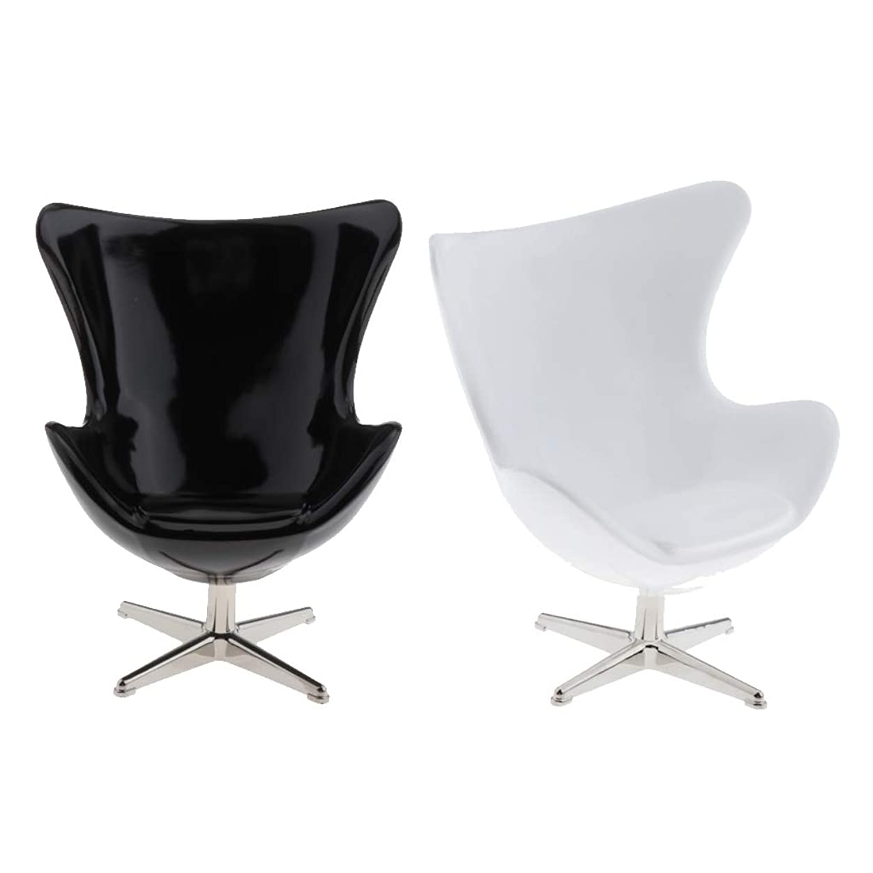 事実栄養ファントム#N/A 2ロット1/12ドールハウス家具1/6椅子ミニ現実的な任意の部屋の装飾のおもちゃ