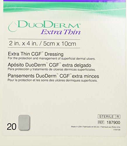 DUODERM CGF EXTRATHIN STERILE Dressing 2 x 4 20EACH/Box.