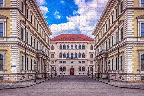SHENLIJUAN Rompecabezas Puzzle 1000 Creativo Puzzle Adultos Múnich Odeonlatz Divertido Juego Familiar Art Painting Puzzle