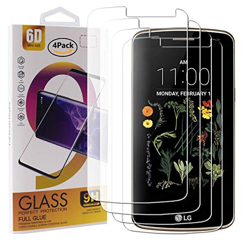 Guran 4 Paquete Cristal Templado Protector de Pantalla para LG K5 Smartphone...