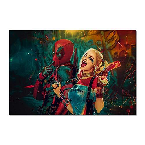 Y fodoro Rompecabezas de Harley Rompecabezas, Película de Madera de Deadpool de Quinn Rompecabezas de Creatividad para Adultos de 1000 Piezas, Juguete para niños Adultos Regalo de año Nuevo