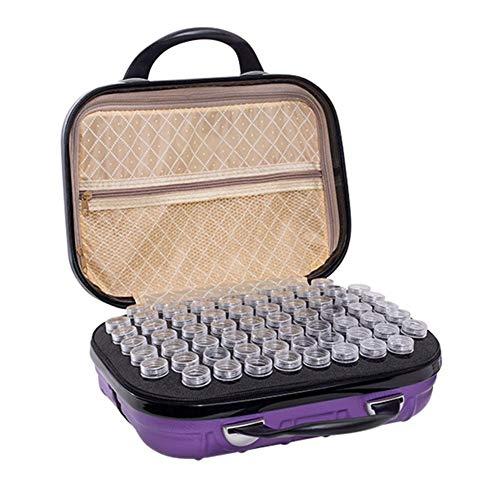 132 Grid Sac de rangement portable pour bouteilles de peinture diamant, violet