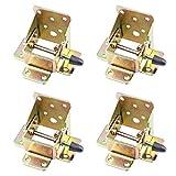 HHOSBFSS 4pcs / Set Bloqueo De Hierro Bloqueo De Mesa Plegable Silla De La Pierna Bisagra, Bisagras Plegables De Auto-Bloqueo, Accesorios De Hardware De Muebles