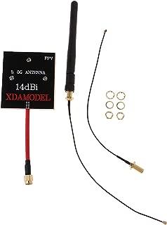 Sharplace Antena de Panel de Modificación de Gama de 14DBI 5.8GHz para Hubsan H501S H502S Accesorio Drone RC