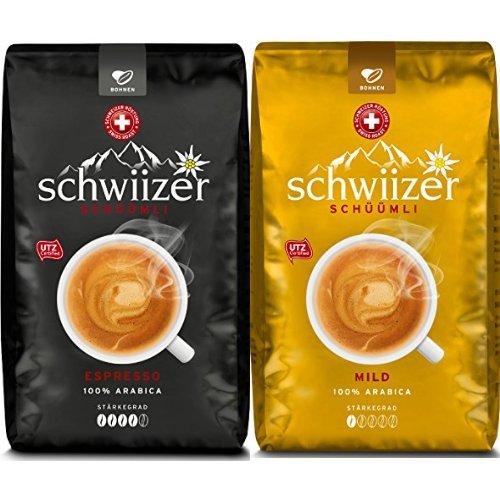 Schwiizer Ganze Kaffeebohnen, 6kg, 3kg Espresso + 3kg Mild