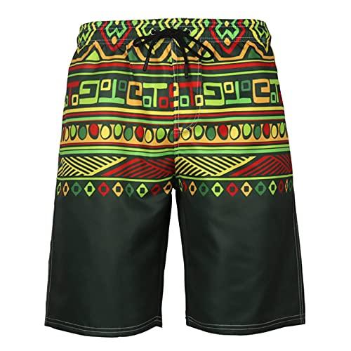 Shorts De Playa con Forro De Malla para Hombre - Cordón Ajustable...
