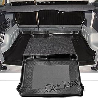 Car Lux AR00170 - Alfombra Bandeja Cubeta Protector cubre maletero a medida con antideslizante para Berlingo 5 Plazas y Multispace