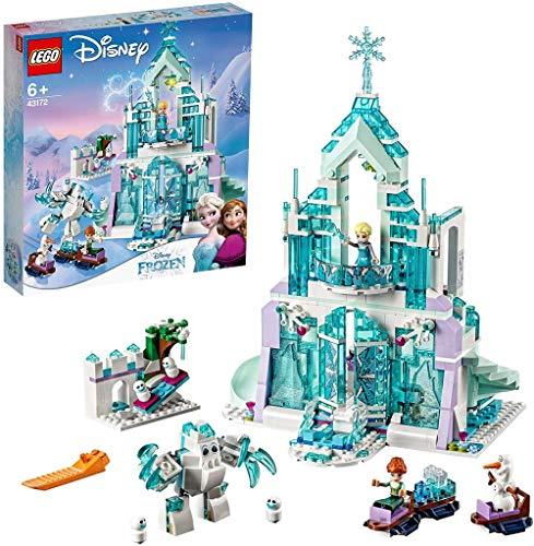 LEGO DisneyPrincess IlMagicoCastellodiGhiacciodiElsa, Setcon le Mini-doll della Principessa Elsa e di Anna e lo Scenario di Frozen, 43172