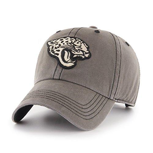 OTS NFL Jacksonville Jaguars Men's Deck Hand Challenger Adjustable Hat, Charcoal, One Size