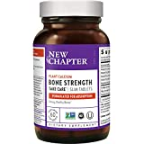 New Chapter Calcium Supplement – Bone Strength Whole Food Calcium with Vitamin K2 + D3 + Magnesium, Vegetarian, Gluten Free 60 Count (20 Day Supply)