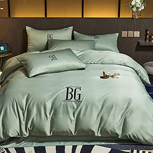 Bedding Juego De Funda De EdredóN,Edredón antiadita, suave y cómodo, palo, anti-sudor, hoja doble, almohada antiestática, ropa de cama, adecuado para habitaciones familiares Habitación Habitación inf