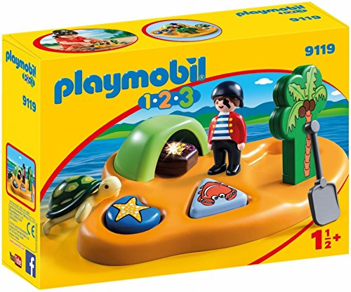 PLAYMOBIL 1.2.3-9119 Isla Pirata, Multicolor, única (9119)