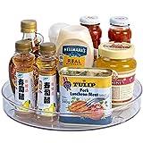 Lazy Susans - Organizer da cucina per giradischi, trasparente, per riporre spezie, dispensa, piano di lavoro, tavolo, vanità, bagno, S