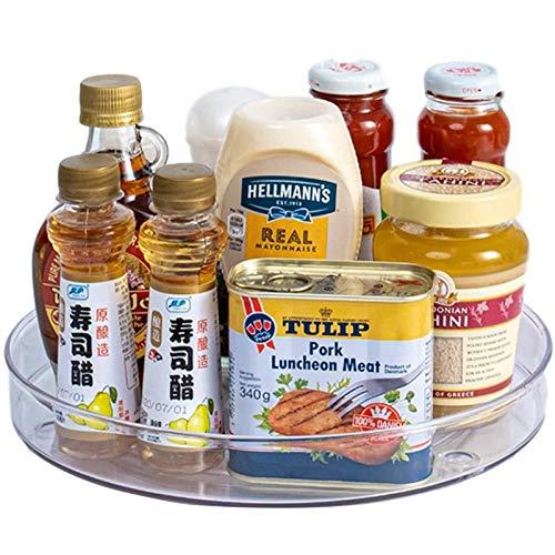 Lazy Susans - Organizzatore da cucina per giradischi, trasparente, per riporre spezie, dispensa, mensola da banco, tavolo da lavoro, bagno, L