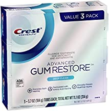 Crest Pro-Health Advanced Gum Restore Toothpaste, Deep Clean 3.7 Oz (Pack of 3)