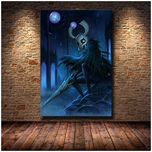 ZQXXX Carteles e impresiones de videojuegos de Hollow Knight, pintura en lienzo, arte de pared para sala de estar, decoración del hogar, impresión -50x70cm sin marco