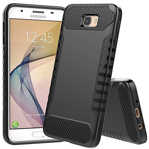 Galaxy ON52016Fall, Galaxy J5Prime Fall, jdbruian [Stoßdämpfung] Hybrid-Dual-Layer Armor Schutzhülle für Samsung Galaxy ON52016/J5Prime/G570, Schwarz