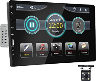 $99 » Single Din Car Stereo with Bluetooth 9 Inch Touch Screen HD Car Radio Support FM USB EQ Adjust Mirror Link for Android &iO...