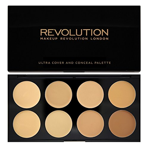 MAKEUP REVOLUTION Ultra Cover & Conceal Palette Light-Medium, 10 g