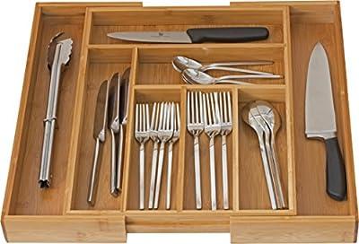 Home-it Expandable Cutlery Drawer Organizer, utensil organizer Flatware Drawer Dividers, Kitchen Drawer Organizer Nice Cutlery Holder