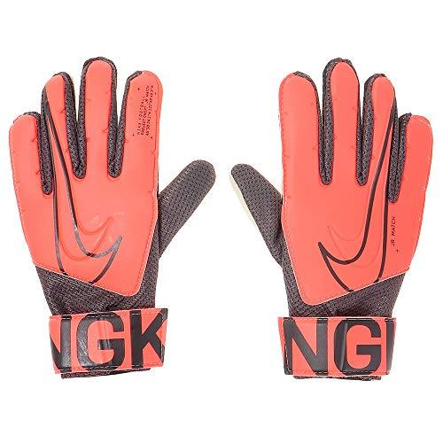 Nike Jr. Match Goalkeeper - Guanti, unisex, per adulti, Bright Mango/Black/Orange Pulse, 7