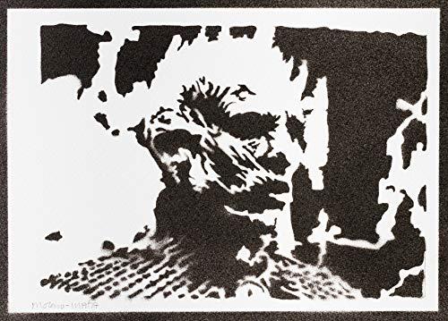 Poster Bianco Camminatori Re Della Notte Il Trono di Spade Game of Thrones Handmade Graffiti Sreet Art - Artwork