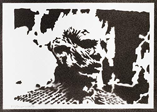 Cam. Bl. Póster Night King Ga. of Th. Grafiti Hecho a Mano Sreet Art - Aesthetic Artwork