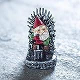 garden mile Mini-Gartenzwerg Thron, Gartenzwerg, für Haus oder Garten, Spiel-of-Thrones-Sammlerstatue, 10 cm – Geschenke für GOT Fans