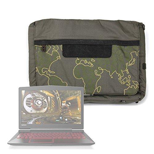 DURAGADGET Sacoche Rouge pour ASUS ZenBook UX510, ROG Strix GL553, Lenovo Legion Y520 Ordinateurs Portables Motif Vert Kaki