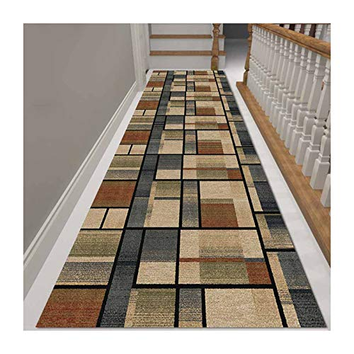 HEJINXL Area Rugs Hotel Corridor Carpet Runners Non-slip Backing For Living Room Kitchen Bedroom Entryway Rugs Easy To Clean Kitchen Hallway Long Carpet (Color : B, Size : 120cmx100cm)
