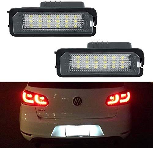 Boomersun Led-kentekenplaatverlichting, achterlicht voor VW Golf 5 6 7 Polo Passat etc, 2 stuks