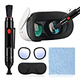 MASiKEN Cleaning Kit For Oculus 2, 5-IN-1 Lens Cleaner Protector Accessories Fit Oculus Quest/HTC ViVe/PSVR/Drone, Optical Lens Dust Brush and Fingerprint Cleaning Pen, Anti Scratch Blue Ray Lens