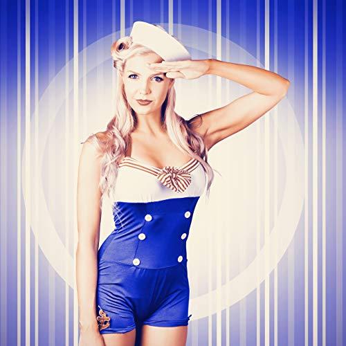 Bilderdepot24 Poster selbstklebend Pinup Girl - Vintage 50x50 cm - Wandbild Wohnzimmer - Rockabilly und Retrostil