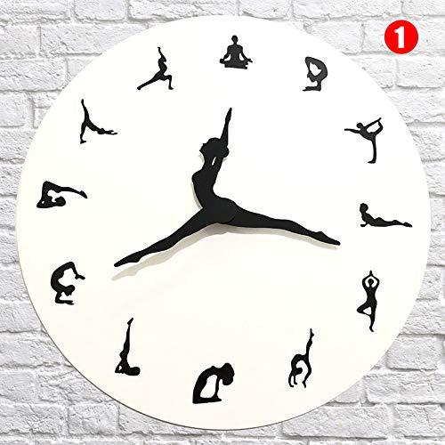 eamqrkt - Reloj de pared para yoga