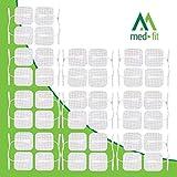 d'électrodes Med-Fit Tens 40 pads 10 paquets de Tens Pads auto-adhésifs de très haute qualité et de très longue durée Taille 5cm x 5cm Med-Fit- Prorelax Dittmann Saneo Sport Saneo Vital