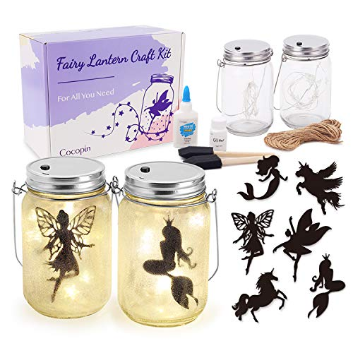 Fairy Lantern Craft Kit Decorative Hanging Mason Jar With String Lights Arts And Crafts Ideas For Girls Best Creative Activities For Birthday Party And School Buy Online In Burkina Faso At Burkinafaso Desertcart Com