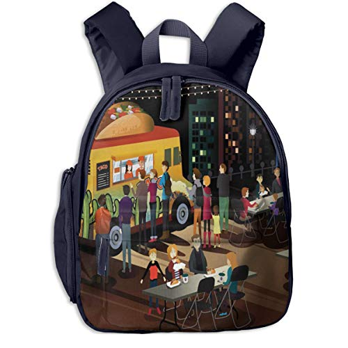 Kinderrucksack Kleinkind Jungen Mädchen Kindergartentasche Taco Truck Party hungrig Backpack Schultasche Rucksack
