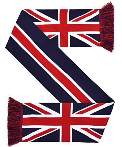 Euroscarves Union Jack UK United Kingdom Flag HD Knit Scarf