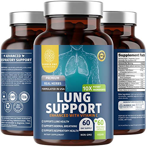 N1N Premium Lung Supplement [10 Potent Ingredients] Natural Cleanse & Detox to Help Quit Smoking and Support Free Breathing, 60 Capsules