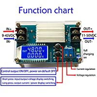 5pcs/lot Boost Constant Voltage Constant Current Power Supply Module 11-50V DC Battery Charging with LCD Display S5X