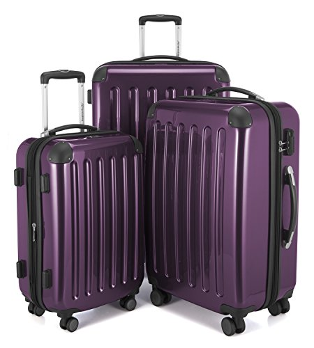 Hauptstadtkoffer Luggage Set, aubergine, SET OF 3