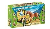 Playmobil Coleccionables - Country Caballo Fiordo Noruego con Establo Playsets de Figuras de jugete (Playmobil 5517)