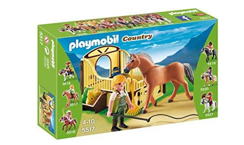 Playmobil Coleccionables - Country Caballo Fiordo Noruego con Establo Playsets de Figuras de jugete...