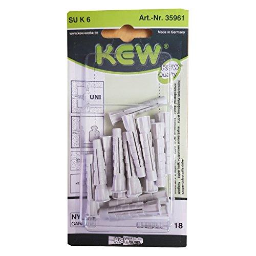 18 Stück Qualitäts Universal Kragendübel SU K 6mm x 36mm Universaldübel Dübel mit Kragen